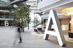 Qantas campus signage