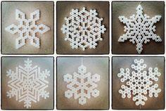 Snefnug i perler Snowman Crafts, Craft Stick Crafts, Christmas Crafts, Diy And Crafts, Christmas Decorations, Hama Beads Patterns, Beading Patterns, Peler Beads, Melting Beads