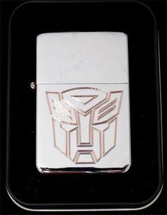 TRANSFORMER AUTOBOT Movie Engraved Chrome Cigarette Lighter dvd Gift LEN-0011
