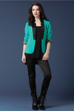 L/S Lined Blazer wth Contrast Collar Detail. http://www.productnewyork.com/covet.html