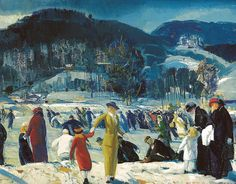 George Bellows - Love of Winter, 1914 at the Art Institute of Chicago IL | Flickr - Photo Sharing!