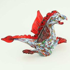 Murano Art Glass Millefiori Dragon Sculpture