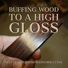 Buffing wood to a high gloss is easy with the Beall buffing system. I finally bought mine, and I am so happy that I did. I can now finish my smaller projects in minutes, and they are ready to handle right off the buffing wheel. No waiting around for thing #woodworkingideas