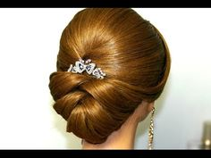 Bridal updo. Wedding hairstyles for medium long hair.
