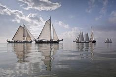 Netherlands, Race of Traditional Sailing Ships Photographic Print