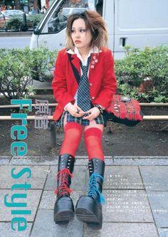 FuckYeahFRUiTS Tokyo Street Fashion, Tokyo Street Style, Japanese Street Fashion, Japan Fashion, Grunge Style, Soft Grunge, Grunge Outfits, Fashion Outfits, Alternative Outfits