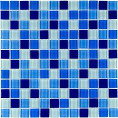 Shop Elida Ceramica Cielo Glass Mosaic Square Indoor/Outdoor Wall Tile at Lowes.com