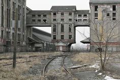 """Abandoned factory like the ones Avery lives next to in """"What Will Happen to Walter. Old Buildings, Abandoned Buildings, Abandoned Places, Abandoned Factory, Abandoned Train, Magic Places, Urban Exploration, Haunted Places, Ghost Towns"""