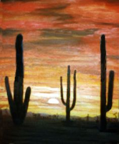 Desert Sky Oil on Canvas  Another very old painting done decades ago. Some of these photographs were just little snapshots and are very poor quality. by Connie Baten