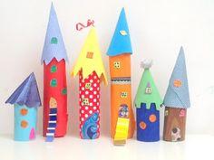 Paper Tube Kids Craft Castle | CrafTea