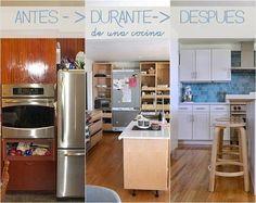 El antes, durante y después de una cocina