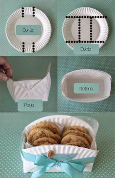 Canasta para galletitas para usar como souvenir [ DIY ]                                                                                                                                                                                 Más