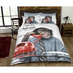 Feel like the jungle VIP in these fantastic soft polycotton novelty duvet cover sets.