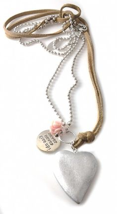 Necklace Suede and Silver | Cotton Candies.