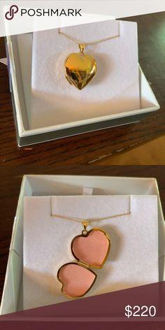 5b5946526 14k 21mm Heart Domed Plain Locket XL516 Material Purity - Purity  14k  Length of item