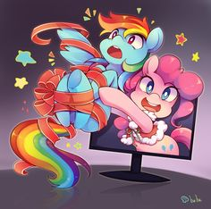 pinkie pie,rainbow dash
