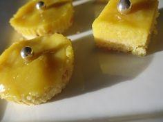 Carrés sablés à l'ananas curd sans lait sans gluten