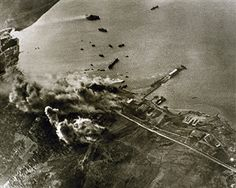 World War II, German aircraft attack against the port of Crete, The German army, once conquered Greece, seized the island during an operation launched on 2 May Pin by Paolo Marzioli Battle Of Crete, Victory In Europe Day, Invasion Of Poland, German Army, Military History, World War Two, Ww2, Mercury, Greece