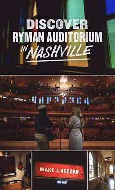 Today Ryman Auditorium is a music venue by night and a must-see tourist stop by day. But it's also been the home of the Grand Ole Opry (until 1971), the place where June Carter met Johnny Cash and the staging ground for many storied careers. Don't miss the Ryman when you're in Nashville. Your music vacation is now playing in Tennessee. Grand Ole Opry, Johnny Cash, Auditorium, Your Music, Nashville, Staging, Tennessee, June, Vacation