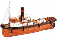 The Artesania Latina Sanson is a wooden boat model that accurately recreates the real life tugboat down to the finest detail.