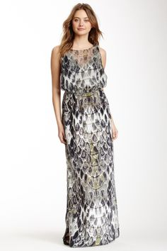 Gypsy05 Printed Silk Maxi Dress