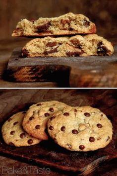 Bake&Taste: Pieguski z czekoladą i orzechami Sweet Little Things, Cookie Desserts, Chocolate Chip Cookies, Food And Drink, Sweets, Baking, Cupcakes, Breakfast, Recipes