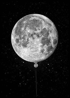 Moon Balloon Poster en el grupo Pósters / Tamaños / 50x70cm con Desenio AB (3872)