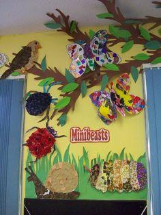 Minibeast Bug Display, classroom displays, class display, Minibeasts, minibeast, bugs, growth, tree, habitat,Early Years (EYFS), KS1& KS2 Primary Resources