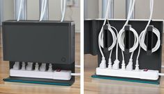 A neat way to organize those messy wires under your desk. I like basic probem solvers like this guy...