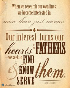 #FamilyHistory #LDS June 2013 Visiting Teaching Message