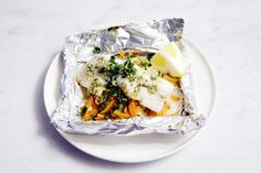 perfect fish foil packets with cod, leeks and carrots by The 10 cent designer, via Flickr