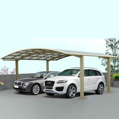 motorcycle canopies/ aluminum double carports for two cars/ polycarbonate solid sheet roof garages Mcm House, House With Porch, Simple Porch Designs, Carolina Carports, Car Shed, Corner Sheds, Army Tent, Double Carport, Cheap Sheds