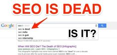 """As an SEO professional focused on the healthcare industry, I regularly come across articles declaring that """"SEO is Dead! Internet Marketing, Online Marketing, Seo Professional, Seo In Guk, Search Engine Optimization, Health Care, Infographic, Death, Learning"""