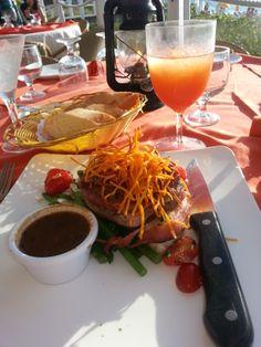 Bacon wrapped filet mignon at Mango Reef (Alexandra Resort) on Provo (Turks & Caico's).