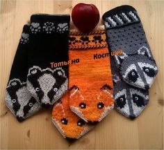 Knitted Mittens Pattern, Crochet Mittens, Knitted Gloves, Baby Knitting Patterns, Knitting Socks, Hand Knitting, Crochet Hats, Knitting For Kids, Double Knitting