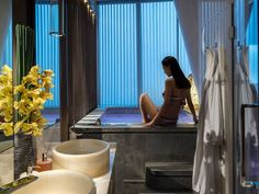 Hua Spa at Four Seasons Hotel Guangzhou, designed by HBA/Hirsch Bedner Associates.