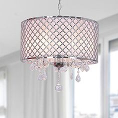 For bedroom Carina Chrome Finish Drum Shade Crystal Chandelier Jojospring http://www.amazon.com/dp/B00O7MX22A/ref=cm_sw_r_pi_dp_HOEPub11BN4GY
