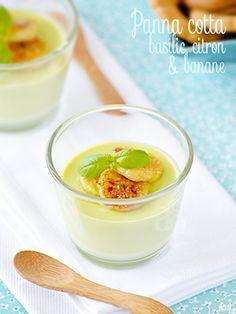 Panna cotta au basilic, zestes de citron & rondelles de banane snackées - Alter Gusto