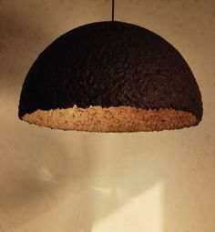 Lampshade 'Bella' - Half Globe Light Fixture, Black and Golden Big Lamp, Handmade Art Lamp, Ceiling Lampshade, Chandelier TO ORDER - pinned by pin4etsy.com