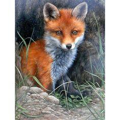 Wildlife Paintings, Wildlife Art, Animal Paintings, Animals And Pets, Cute Animals, Wild Animals, Fox Pictures, Fox Painting, Fox Art