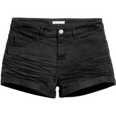 Twill Shorts $12.99 (40 BRL) ❤ liked on Polyvore featuring shorts, short shorts, cuffed shorts, zipper shorts and twill shorts