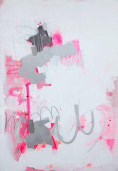 Number 18 - fede saenz  48x68 acrylic, pencil, spraypaint on canvas