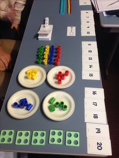 Multiple representations of a problem using Numicon. How many ways can your kids show 20 divided by Maths Eyfs, Math Classroom, Guided Maths, Numicon Activities, Numeracy, Math For Kids, Fun Math, School Resources, Math Resources