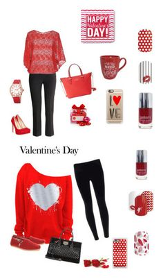 """""""Valentine's Day Fashion"""" by dazzlewithjams on Polyvore featuring H&M, Chinese Laundry, Vicolo, The Hampton Popcorn Company, Kate Spade, bürgi, Casetify, women's clothing, women's fashion and women"""
