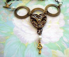 Brass Circles of Love Necklace by joyceshafer on Etsy