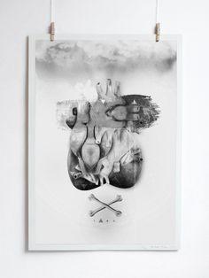 Orgy of Hearts by Alex Lorenzo, via Behance