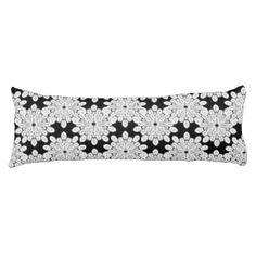 White Snowflakes Body Pillow
