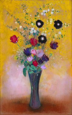 Odilon Redon - Vase of Flowers, 1916