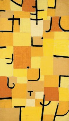 Paul Klee, Characters in Yellow, 1937