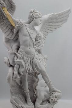 Saint Michael The Archangel White Statue / San Miguel en | Etsy Famous Prayers, Lucca Italy, Saint Michael, Catholic Gifts, Archangel, Saints, Statue, Beautiful, Etsy
